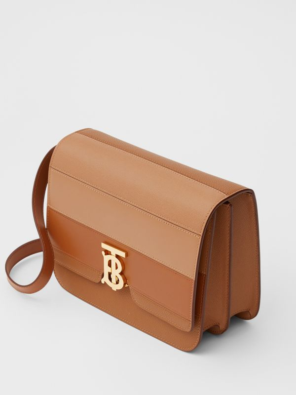 Medium Panelled Leather TB Bag in Maple - Women | Burberry - cell image 2