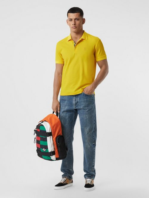 Burberry T-shirts MONOGRAM MOTIF COTTON PIQUÉ POLO SHIRT