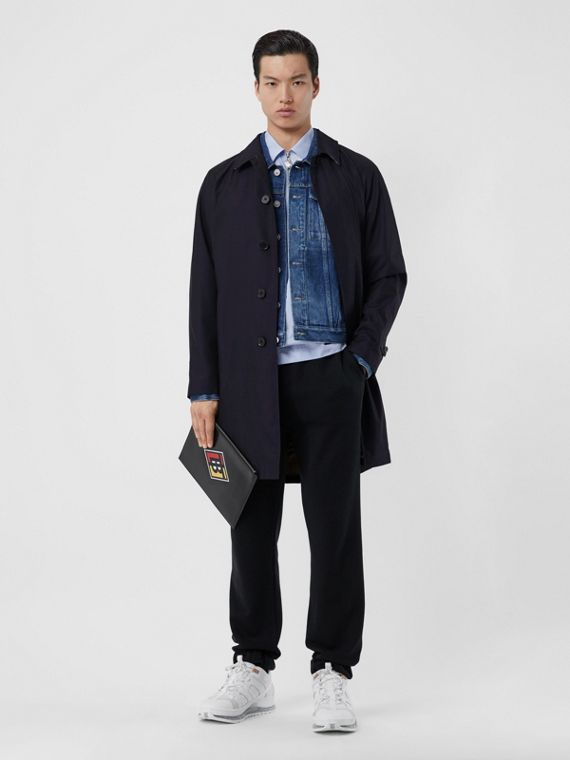 The Camden Car Coat (Blu Carbonio)
