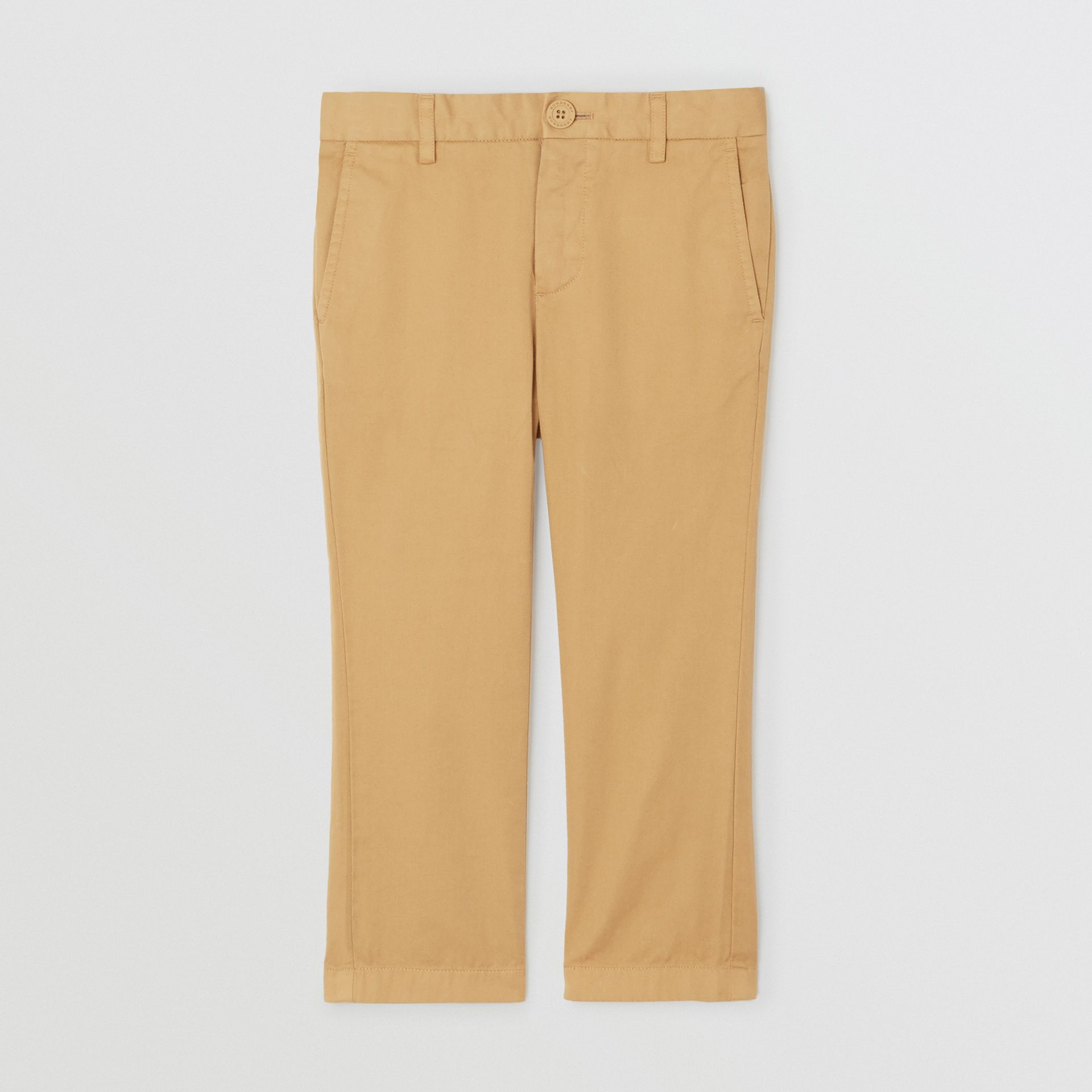 Cotton Chinos in Taupe | Burberry - gallery image 0