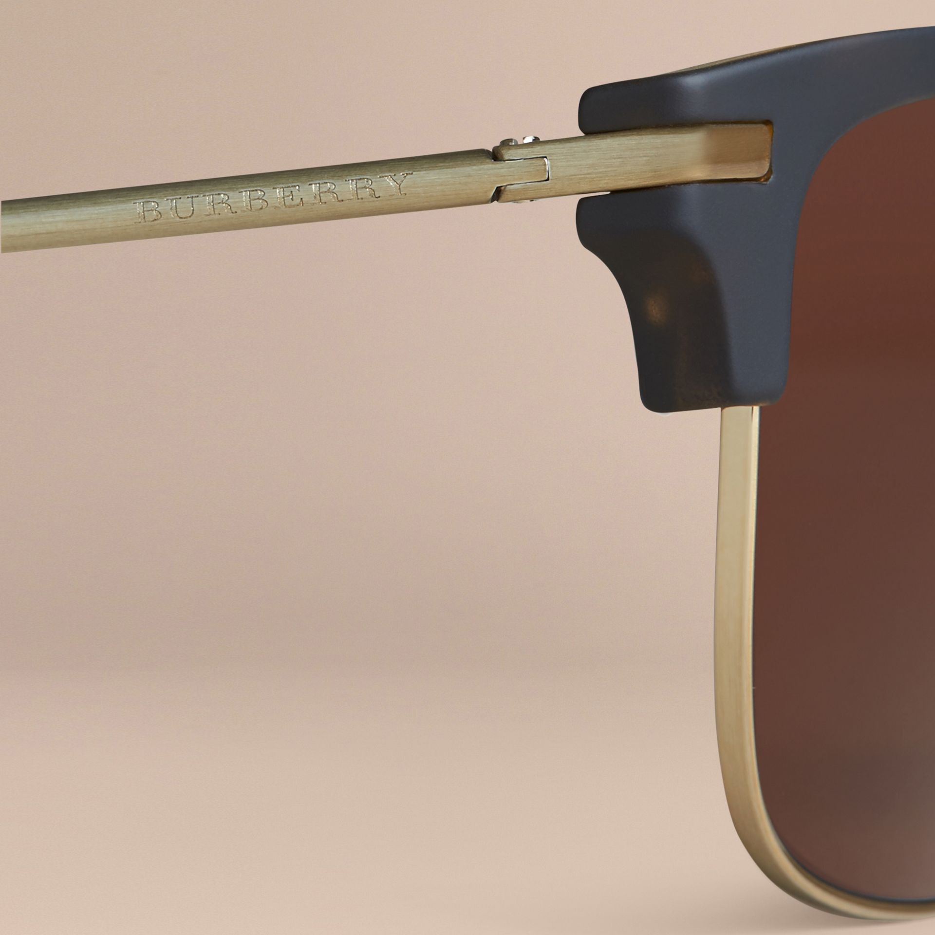 Square Frame Sunglasses Brown - gallery image 2