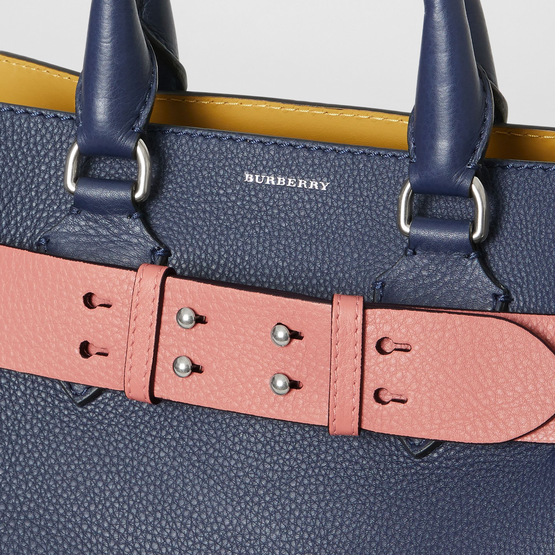The Medium Belt Bag Grainy Leather Belt in Dusty Rose - Women | Burberry Singapore - gallery image 1