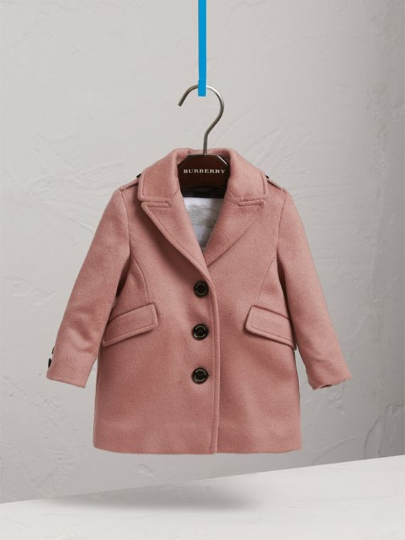 Cashmere Tailored Coat in Antique Rose