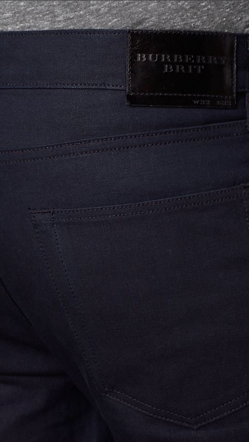 Dark indigo Slim Fit Saturated Selvedge Jeans - Image 4