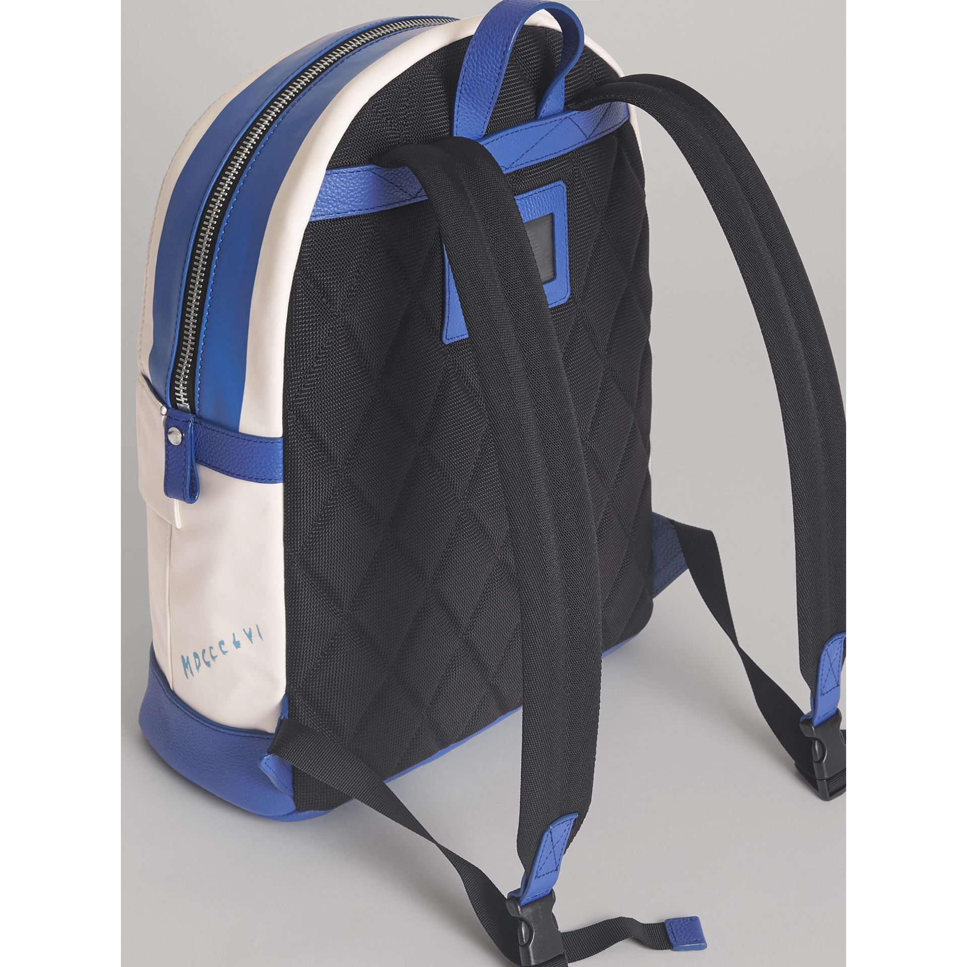 Adventure Print Cotton Canvas Backpack in Blue | Burberry - gallery image 2