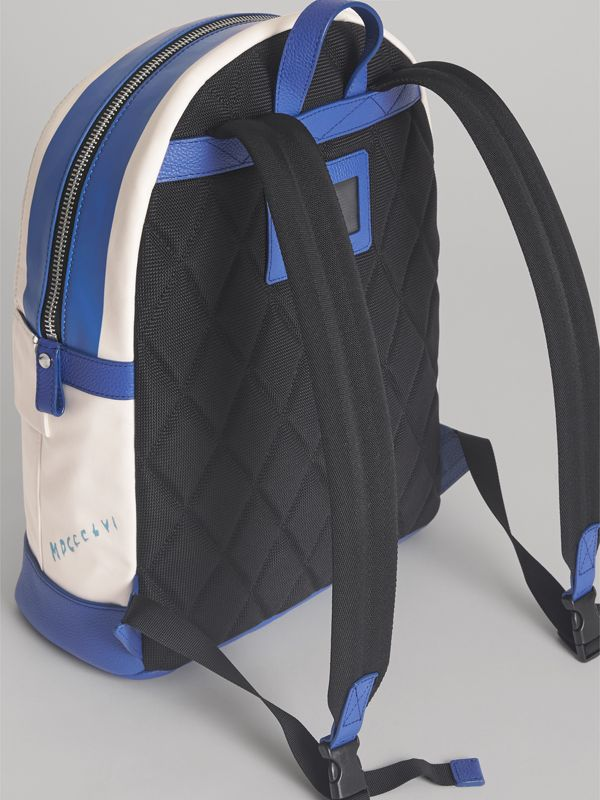 Adventure Print Cotton Canvas Backpack in Blue | Burberry - cell image 2