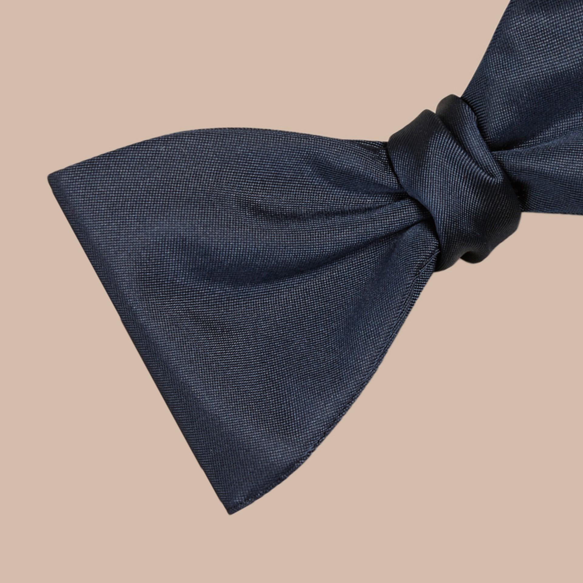 Navy Silk Bow Tie - gallery image 2