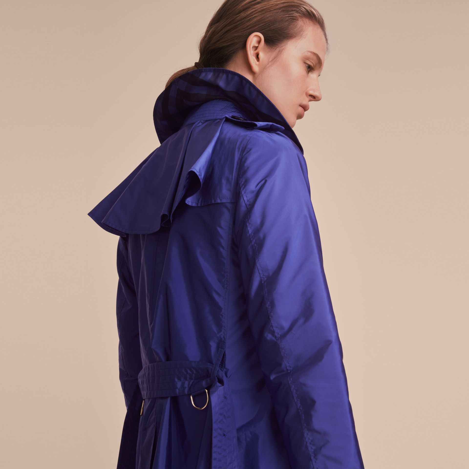 Showerproof Trench Coat in Sapphire Blue - Women | Burberry - gallery image 5