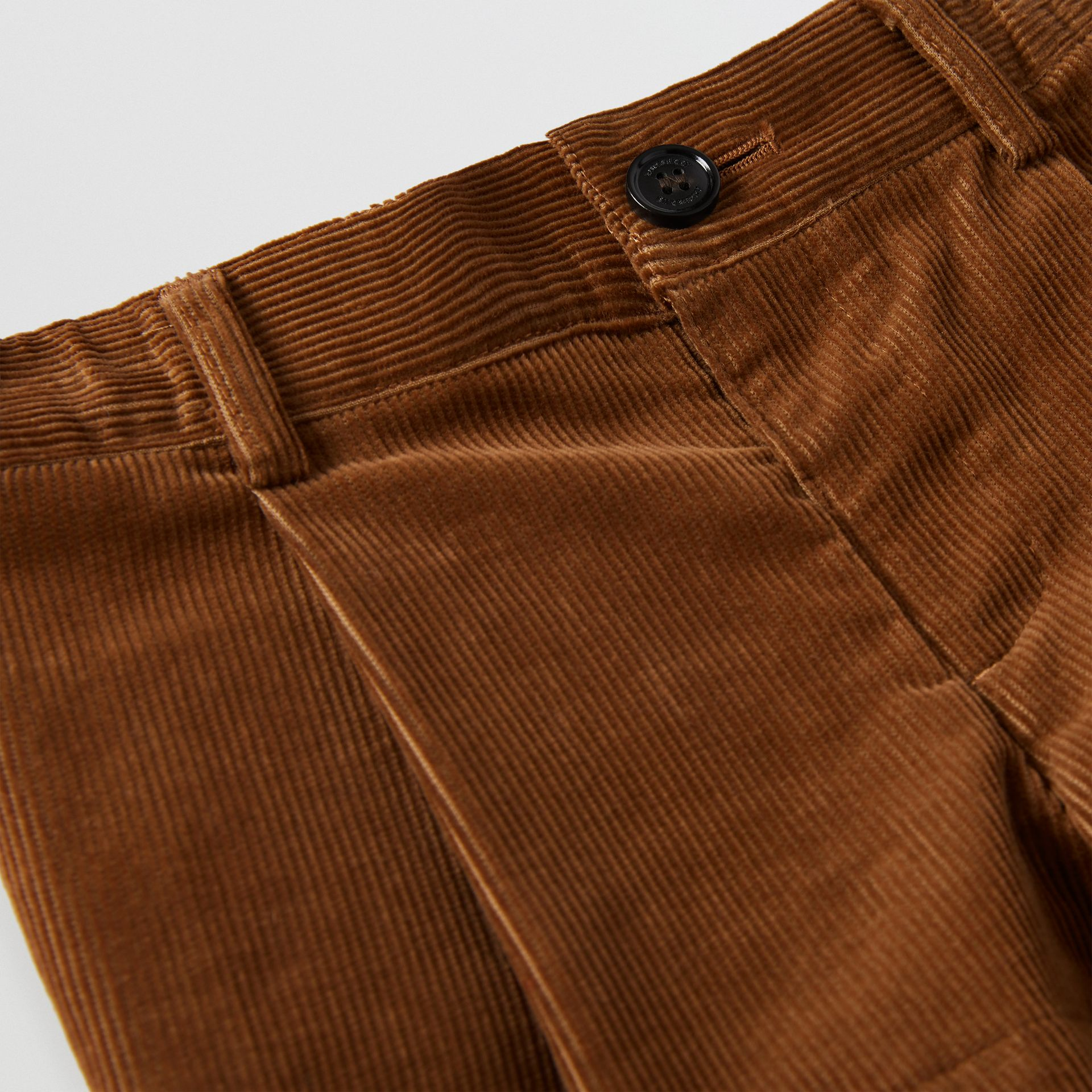 Corduroy Tailored Shorts in Camel | Burberry - gallery image 3