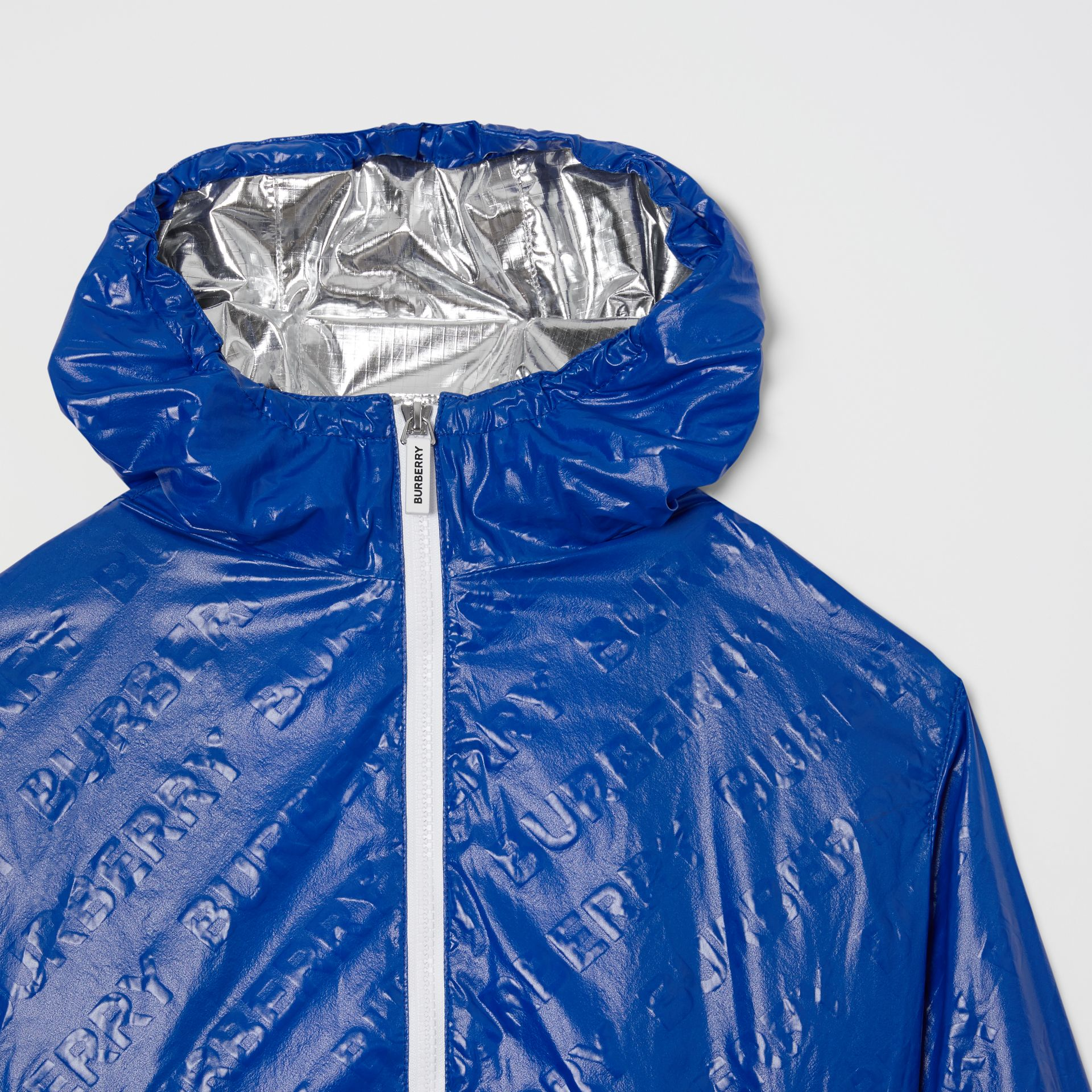 Logo Print Lightweight Hooded Jacket in Deep Cobalt | Burberry - gallery image 5