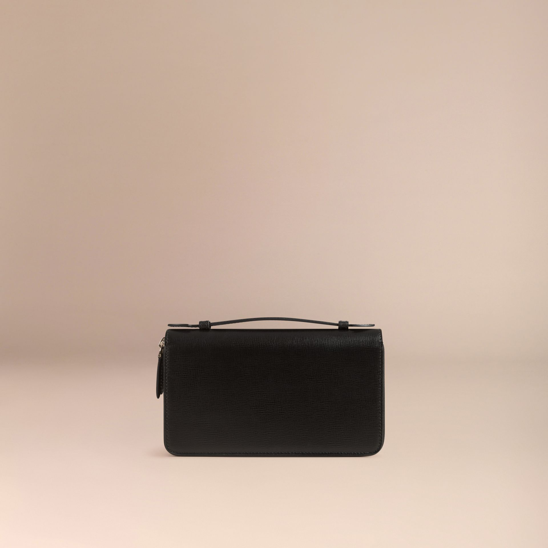 London Leather Travel Wallet in Black - gallery image 4