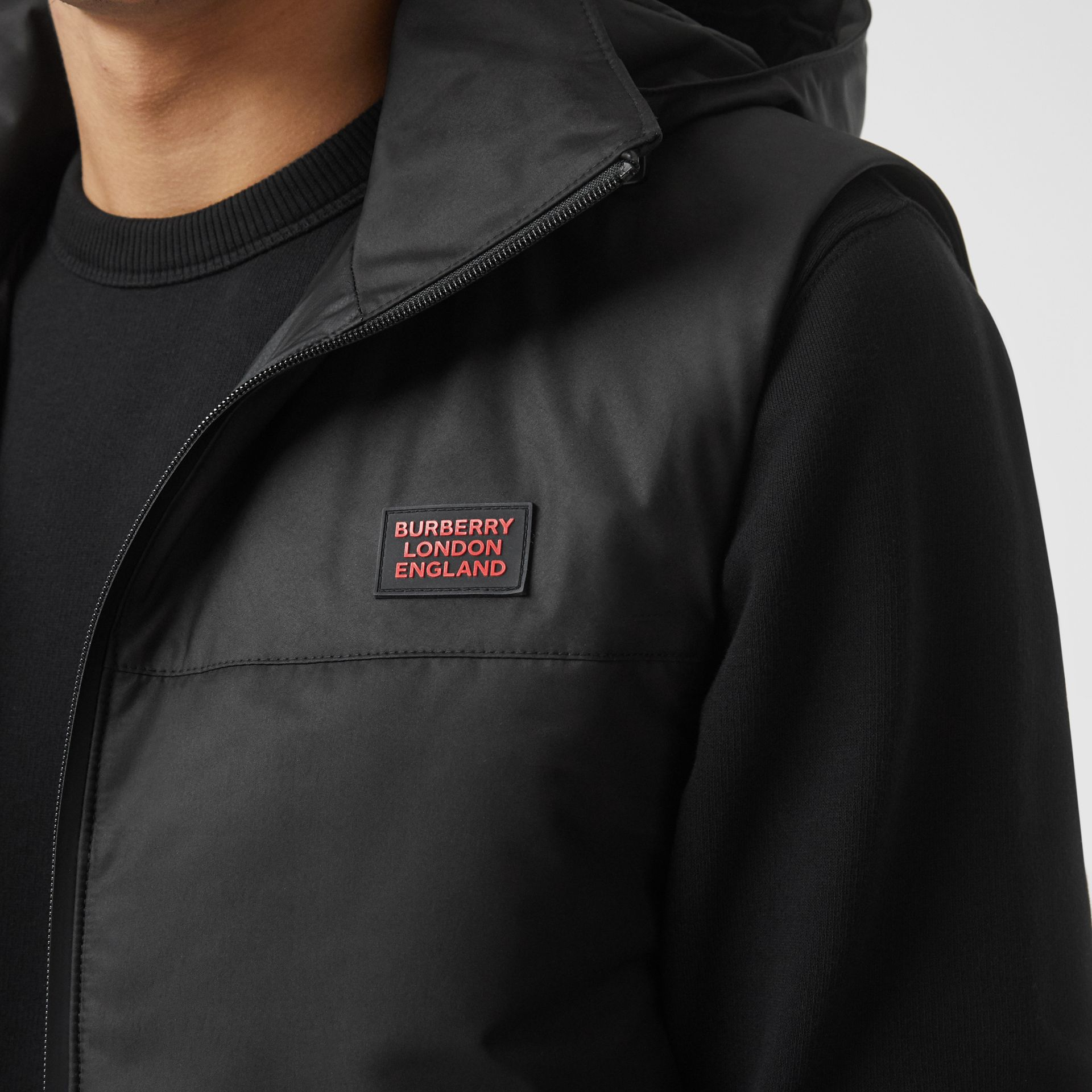Nylon Car Coat with Detachable Hooded Warmer in Black - Men | Burberry United Kingdom - gallery image 5