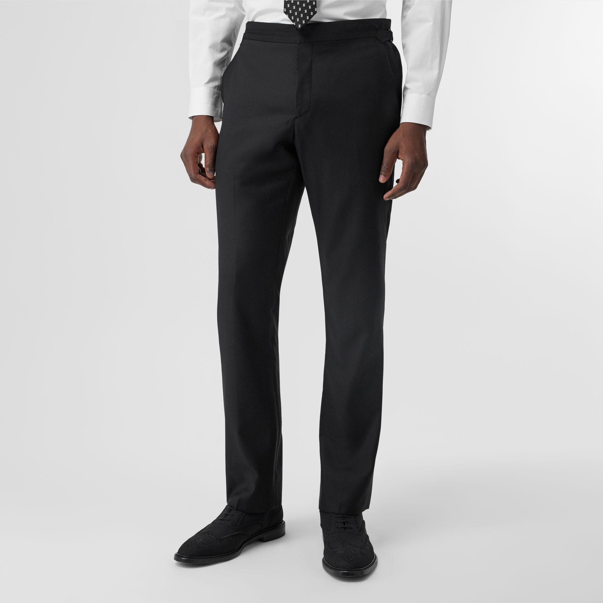 Classic Fit Wool Suit in Black - Men | Burberry United Kingdom - gallery image 6