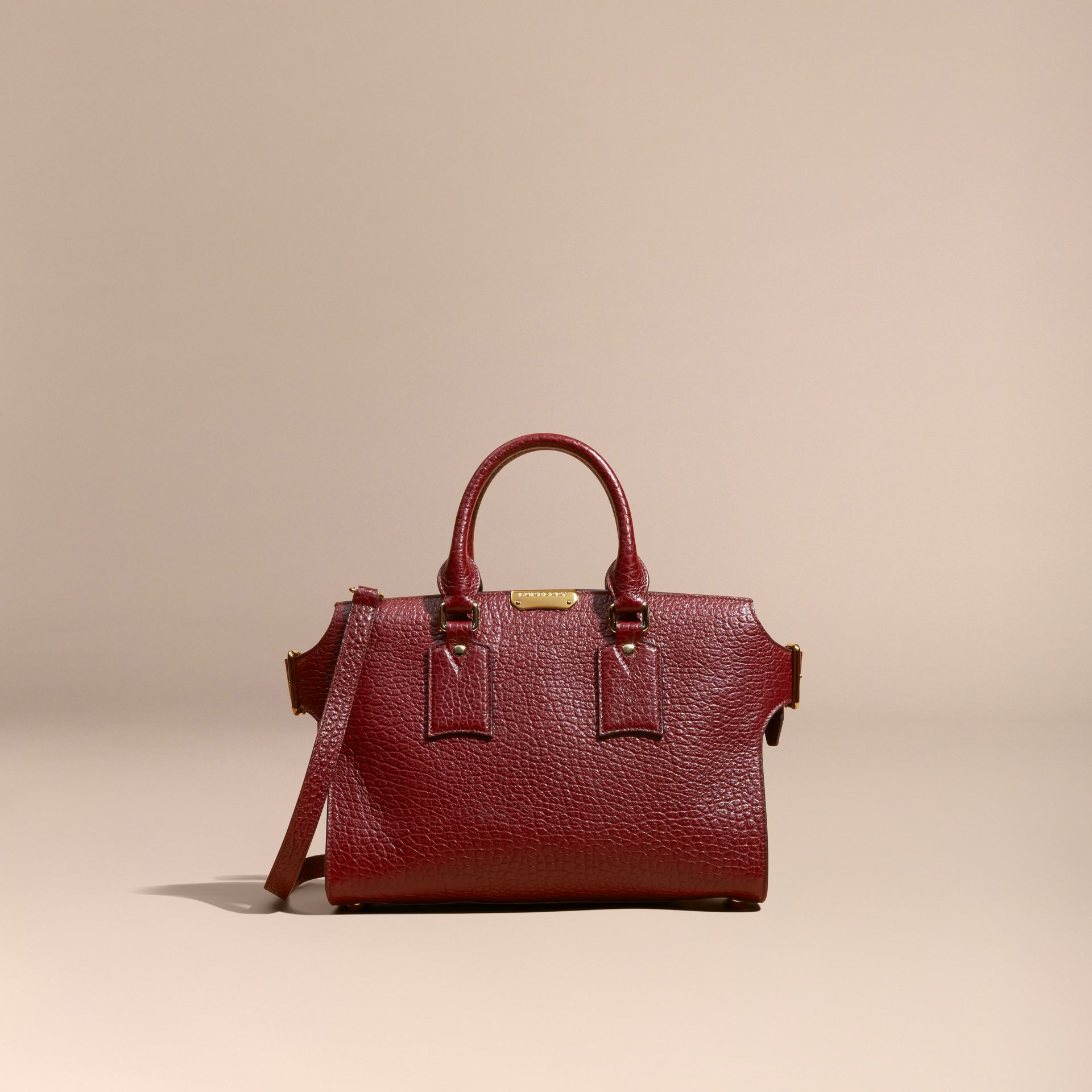 Deep red The Medium Clifton in Signature Grain Leather - gallery image 9