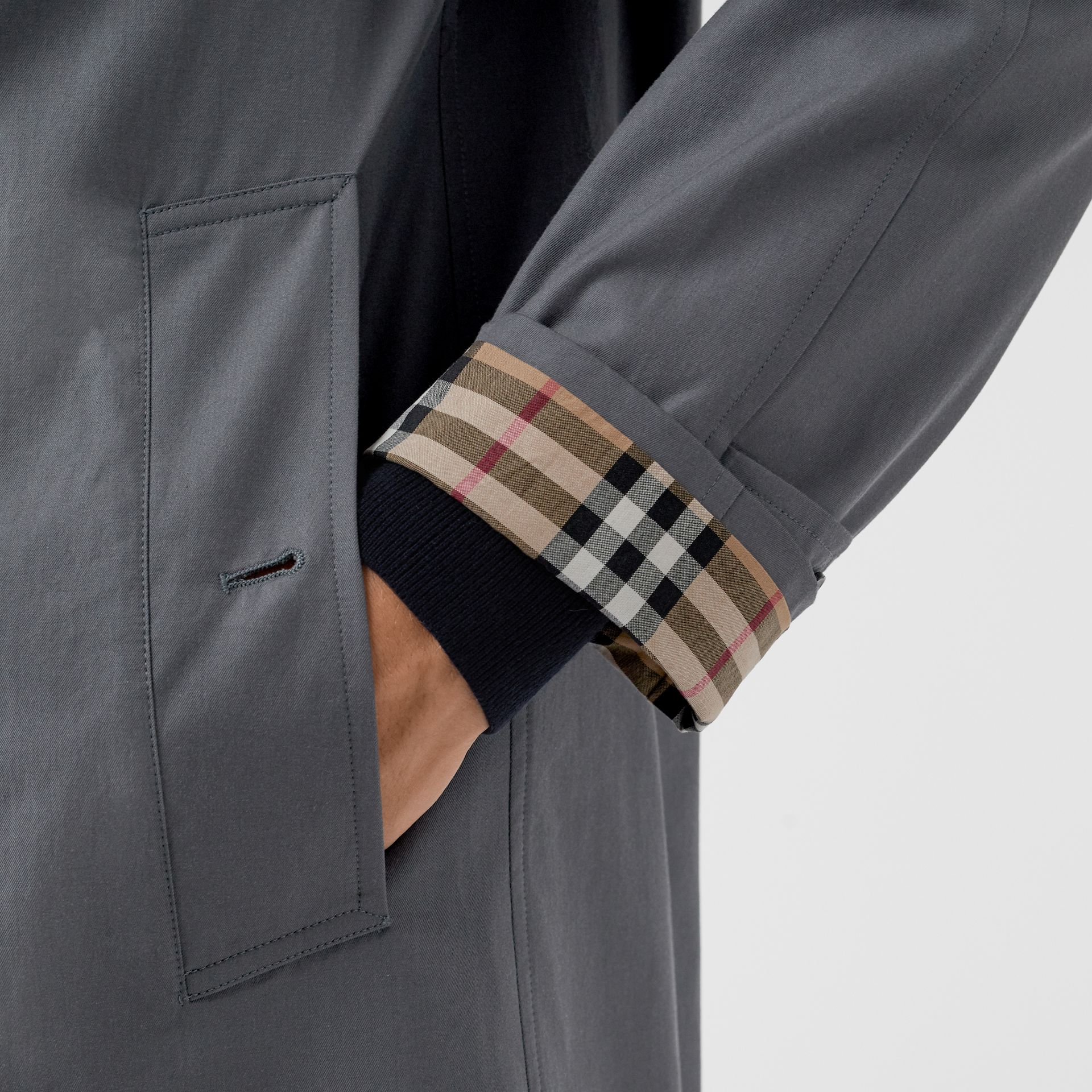 The Camden Car Coat in Mid Grey - Men | Burberry - gallery image 1