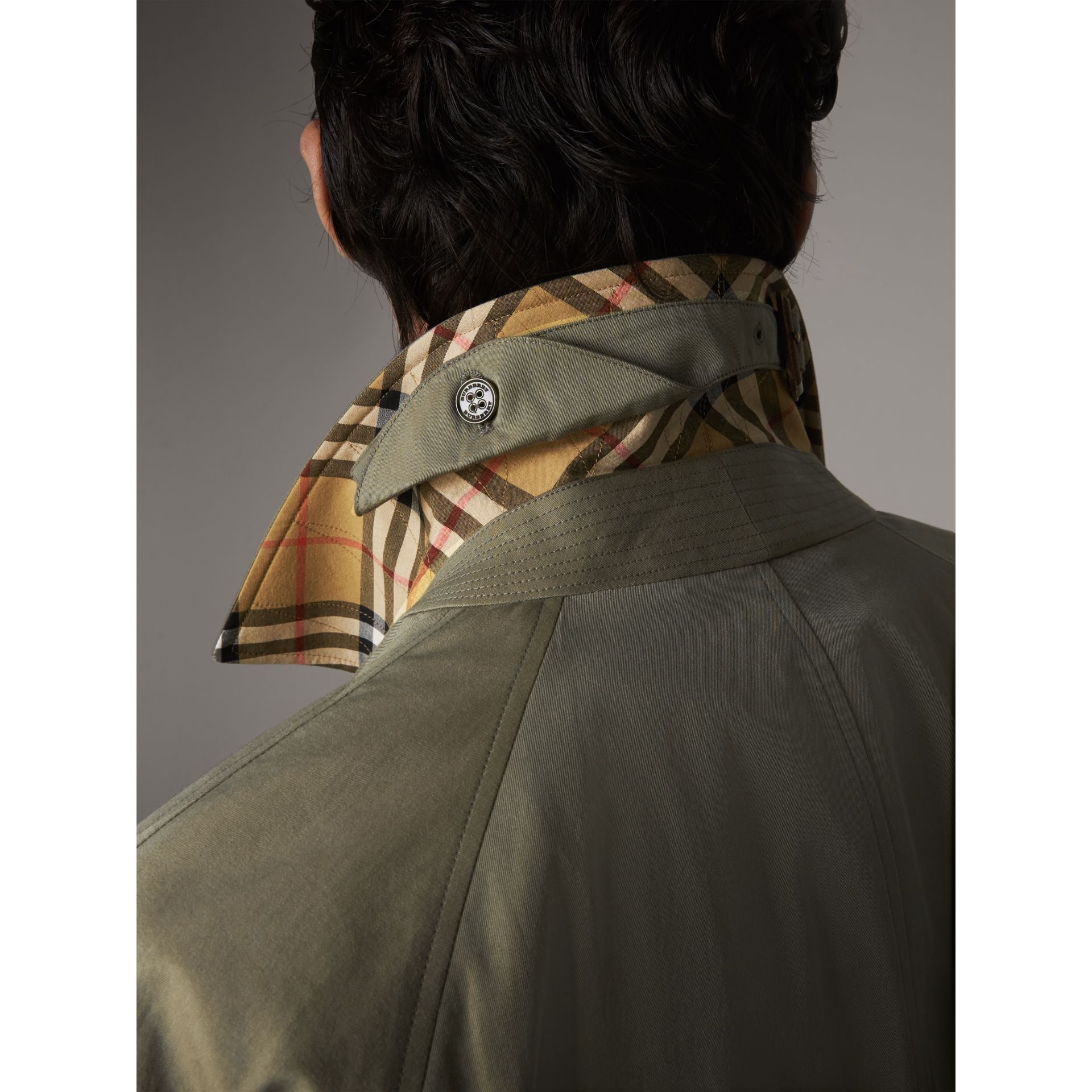 The Camden – Long Car Coat in Chalk Green - Men | Burberry - gallery image 1