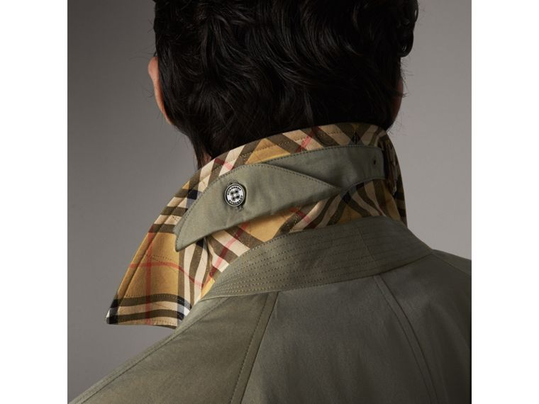 The Camden Car Coat in Chalk Green - Men | Burberry Singapore - cell image 1
