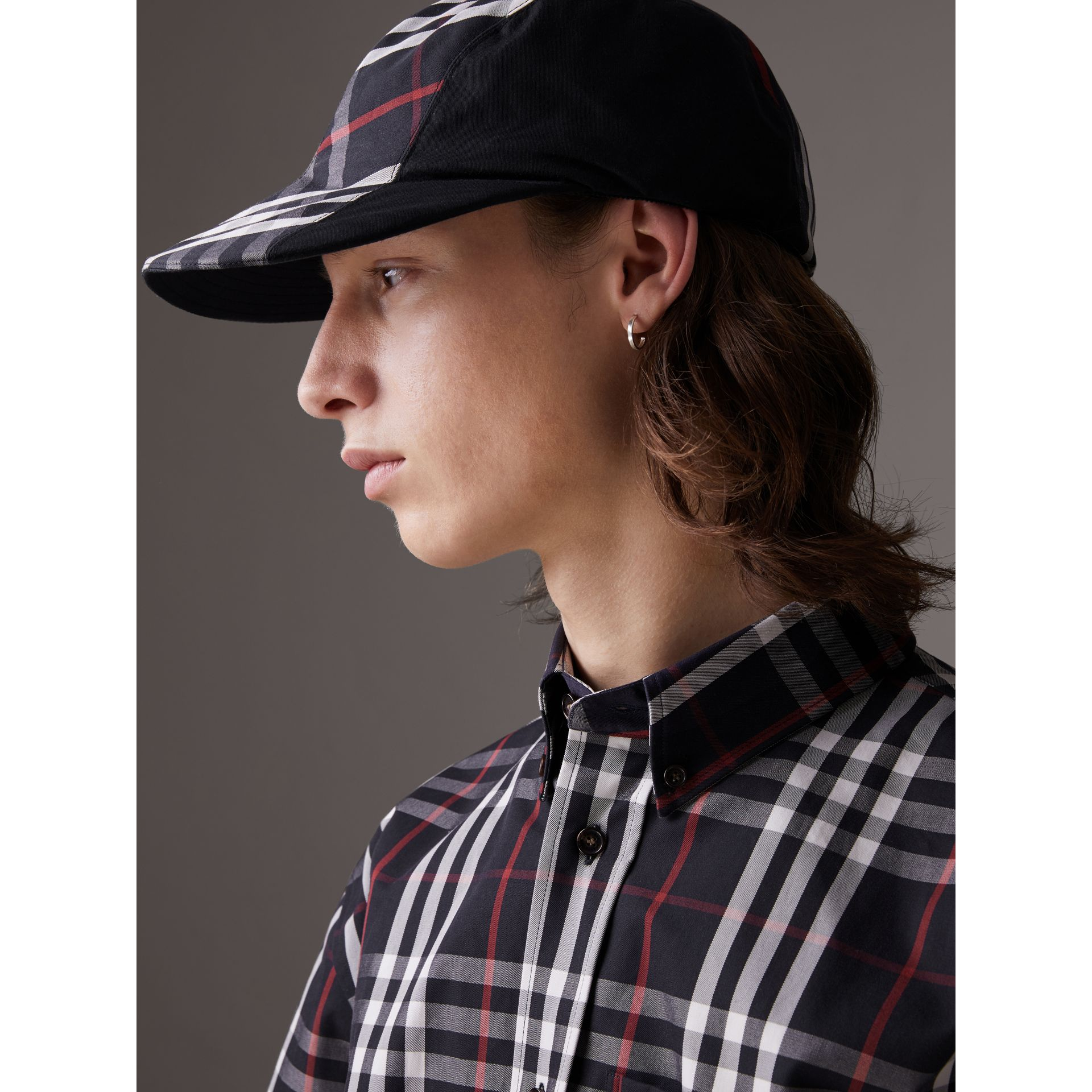 Gosha x Burberry Duckbill Cap in Navy | Burberry - gallery image 7