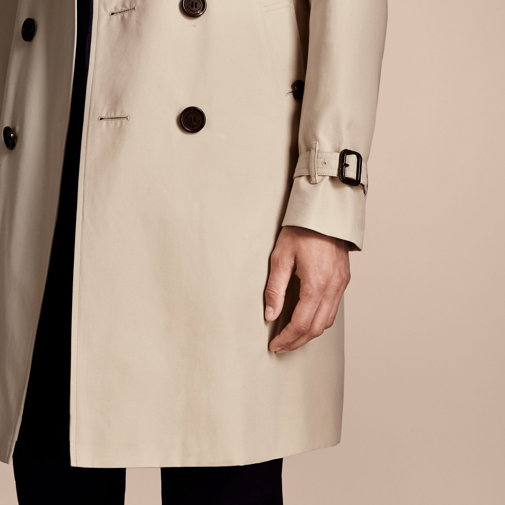 Stone The Sandringham – Long Heritage Trench Coat Stone - gallery image 7