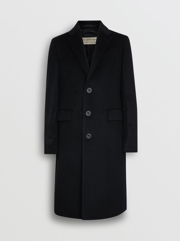 Wool Cashmere Tailored Coat in Black - Men | Burberry Australia - cell image 3