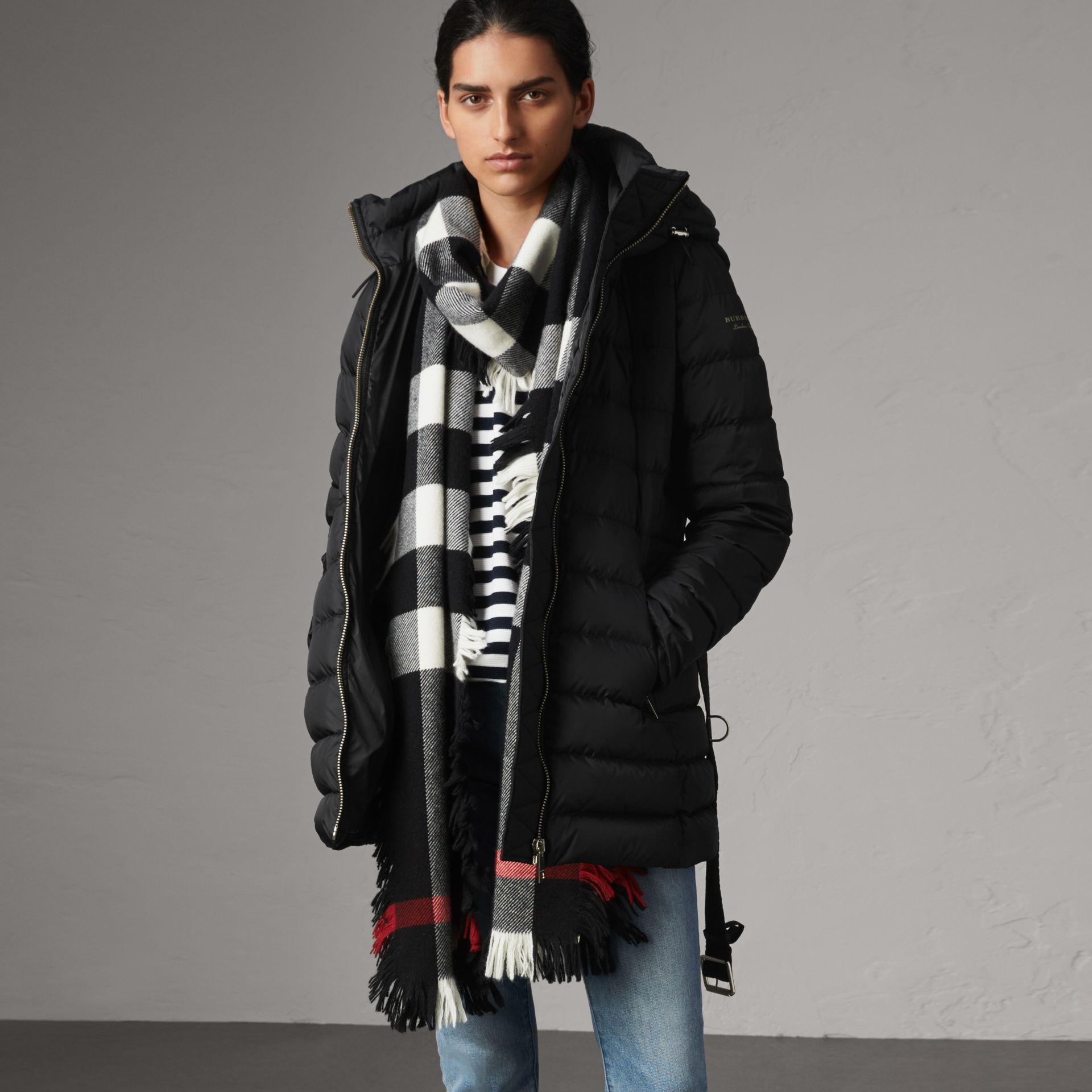 Hooded Down-filled Puffer Jacket in Black - Women | Burberry - gallery image 0