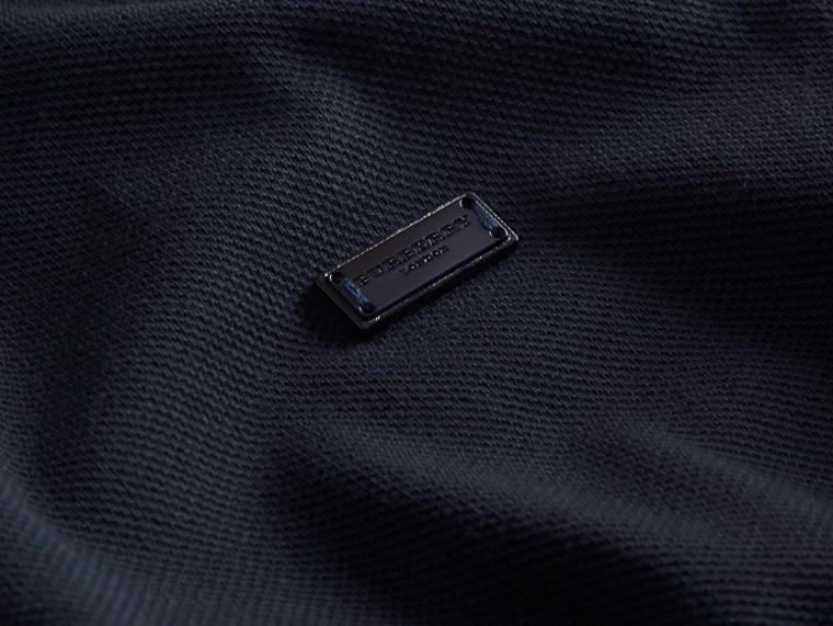 Navy/rosso mogano Polo in cotone piqué con finiture a contrasto Navy/rosso Mogano - cell image 1