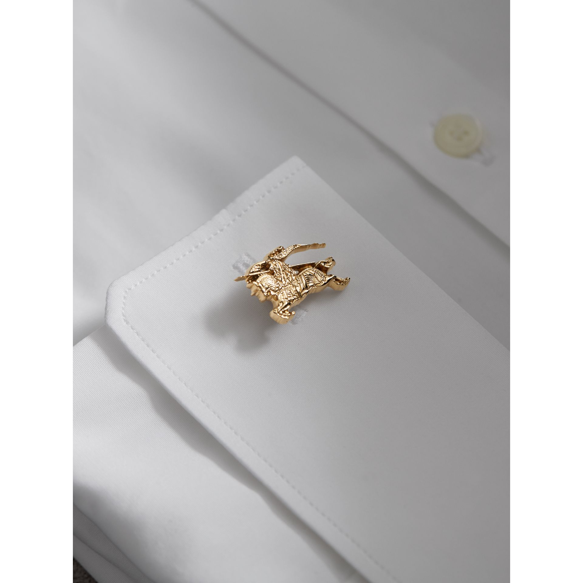 Equestrian Knight Cufflinks in Light Gold - Men | Burberry - gallery image 3