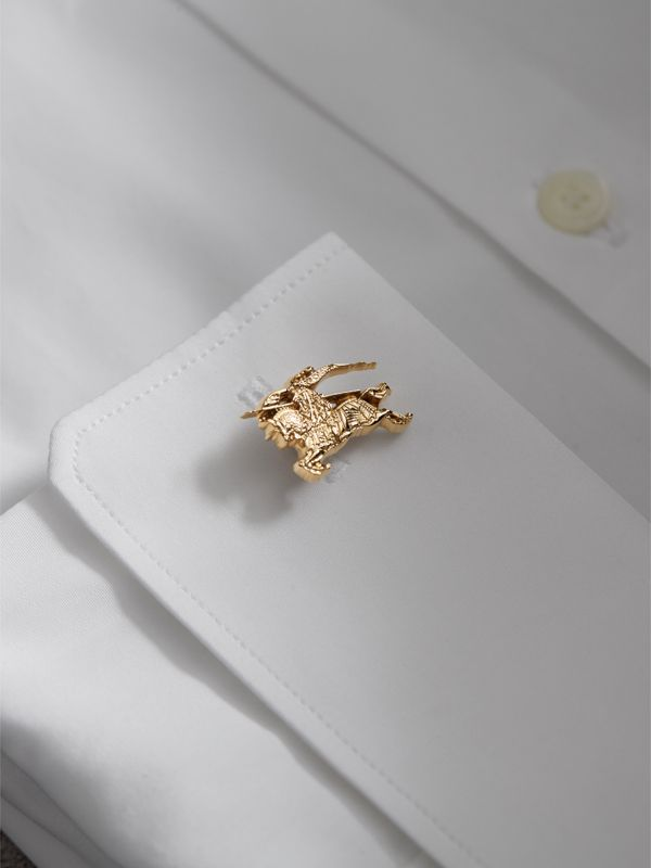 Equestrian Knight Cufflinks in Light Gold - Men | Burberry United Kingdom - cell image 2