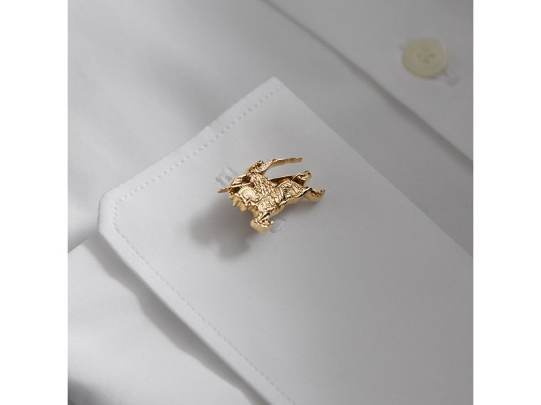 Equestrian Knight Cufflinks in Light Gold - Men | Burberry Canada - cell image 2