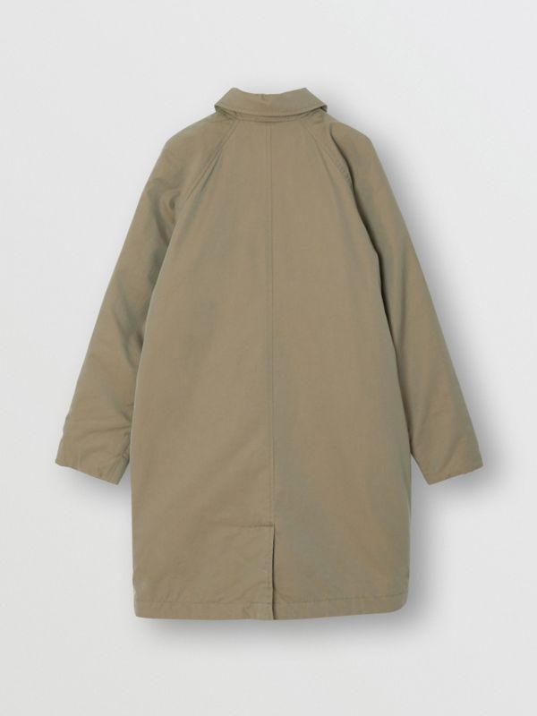 Reversible Tropical Gabardine Car Coat in Chalk Green | Burberry United States - cell image 3