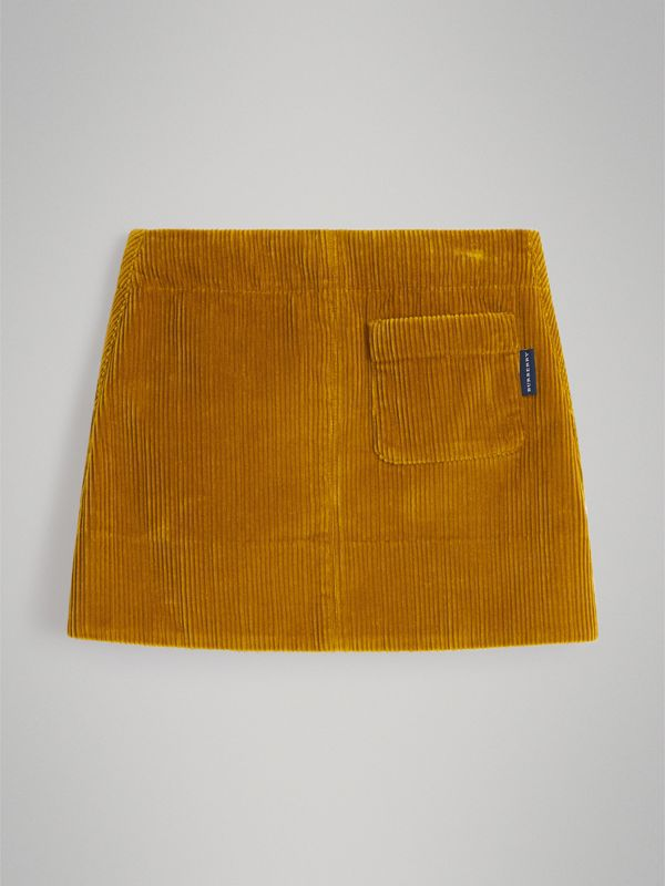 Corduroy A-line Skirt in Ochre - Girl | Burberry - cell image 3