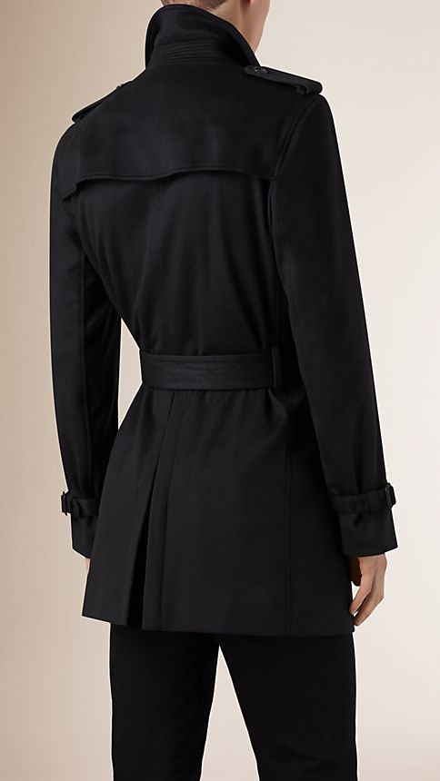 Navy Kensington Fit Cashmere Trench Coat - Image 3