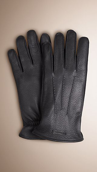 Fur Lined Deerskin Gloves