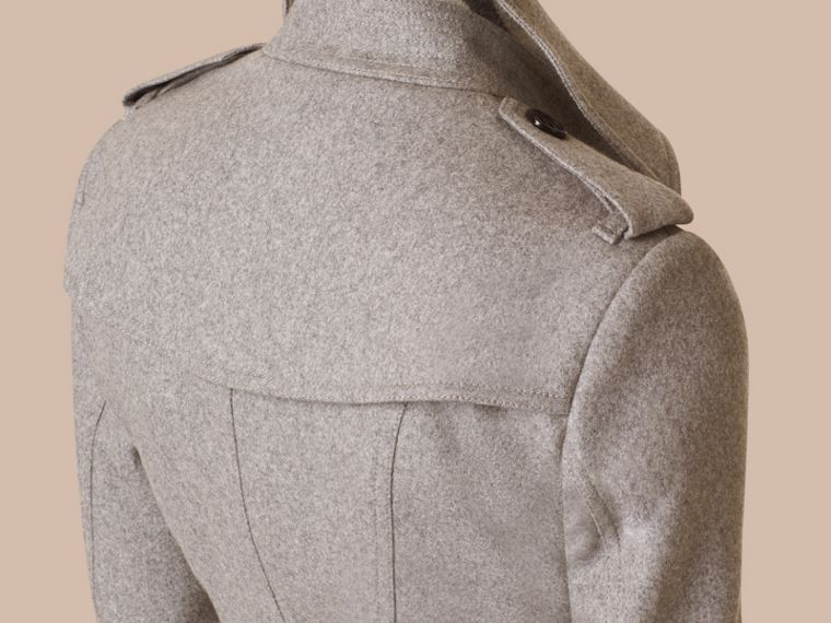 Pale grey Sandringham Fit Cashmere Trench Coat Pale Grey - cell image 1