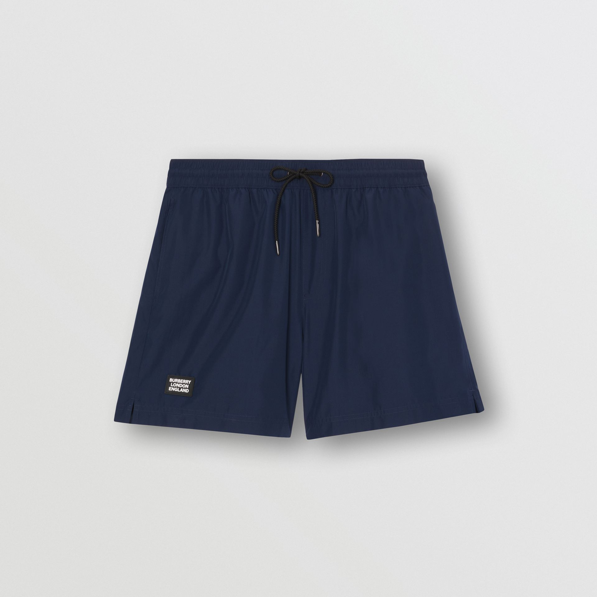 Logo Detail Drawcord Swim Shorts in True Navy - Men | Burberry United Kingdom - gallery image 2