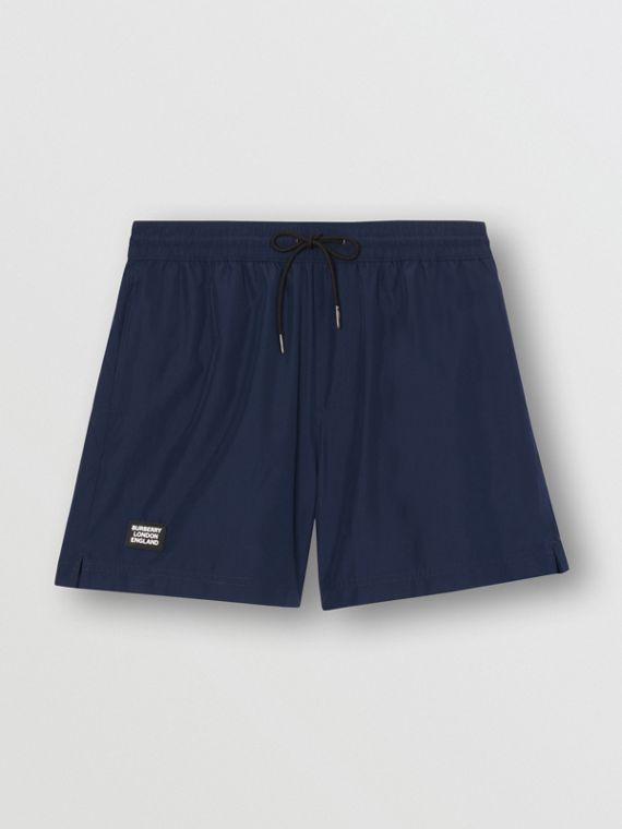 Logo Detail Drawcord Swim Shorts in True Navy