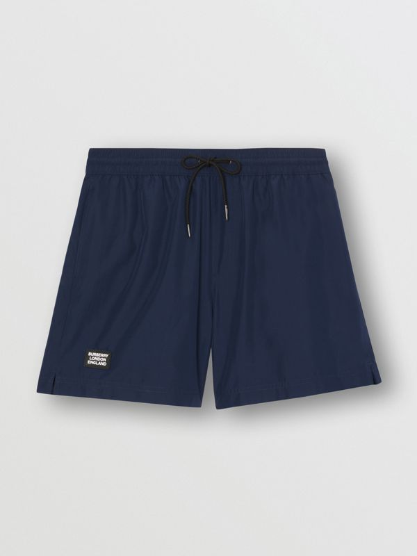 Logo Detail Drawcord Swim Shorts in True Navy - Men | Burberry - cell image 2
