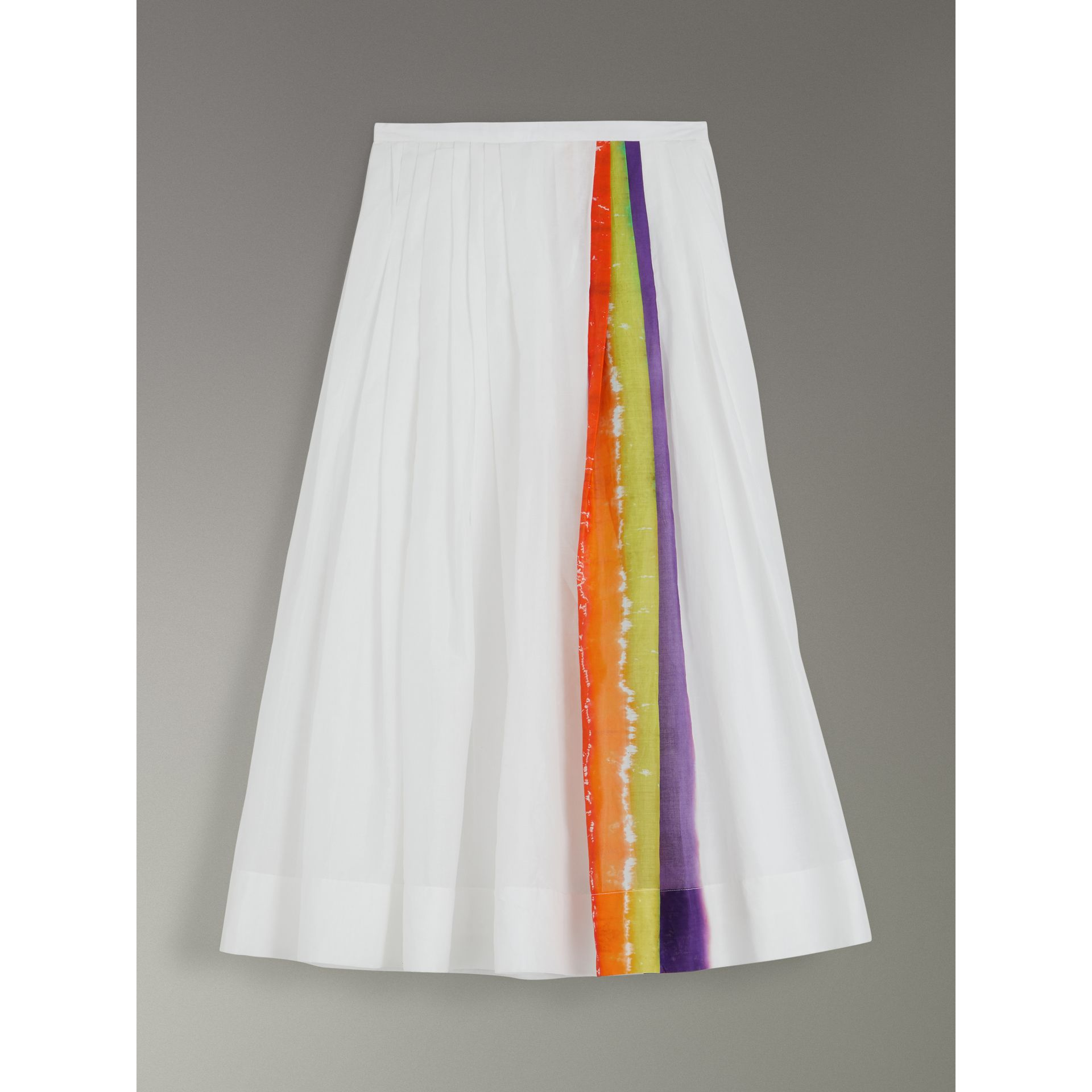 Rainbow Print Organdie Cotton Skirt - Women | Burberry - gallery image 3