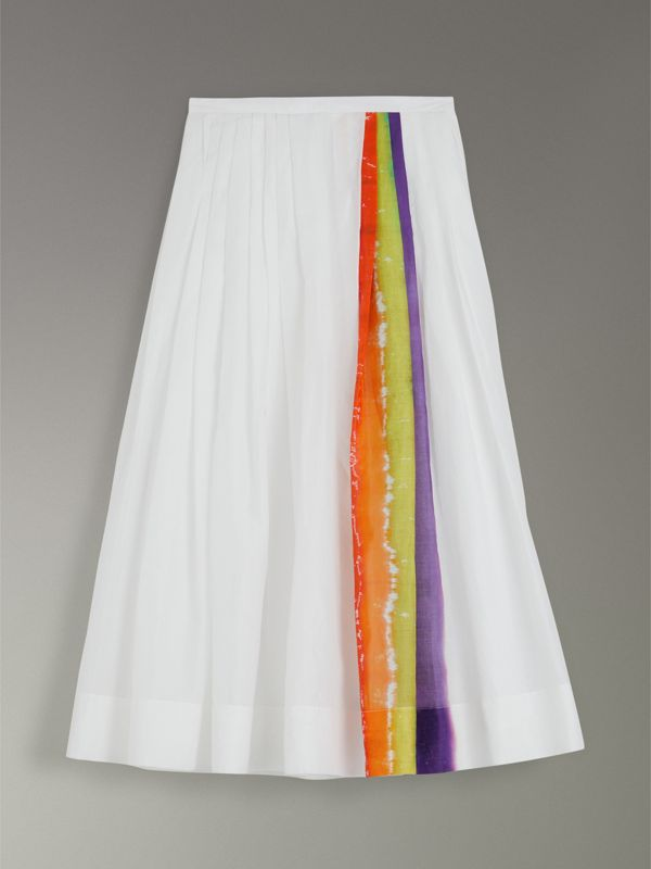 Rainbow Print Organdie Cotton Skirt - Women | Burberry - cell image 3