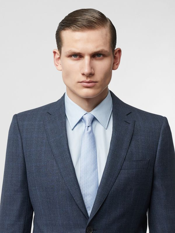 Classic Cut Monogram Silk Jacquard Tie in Pale Blue - Men | Burberry - cell image 2