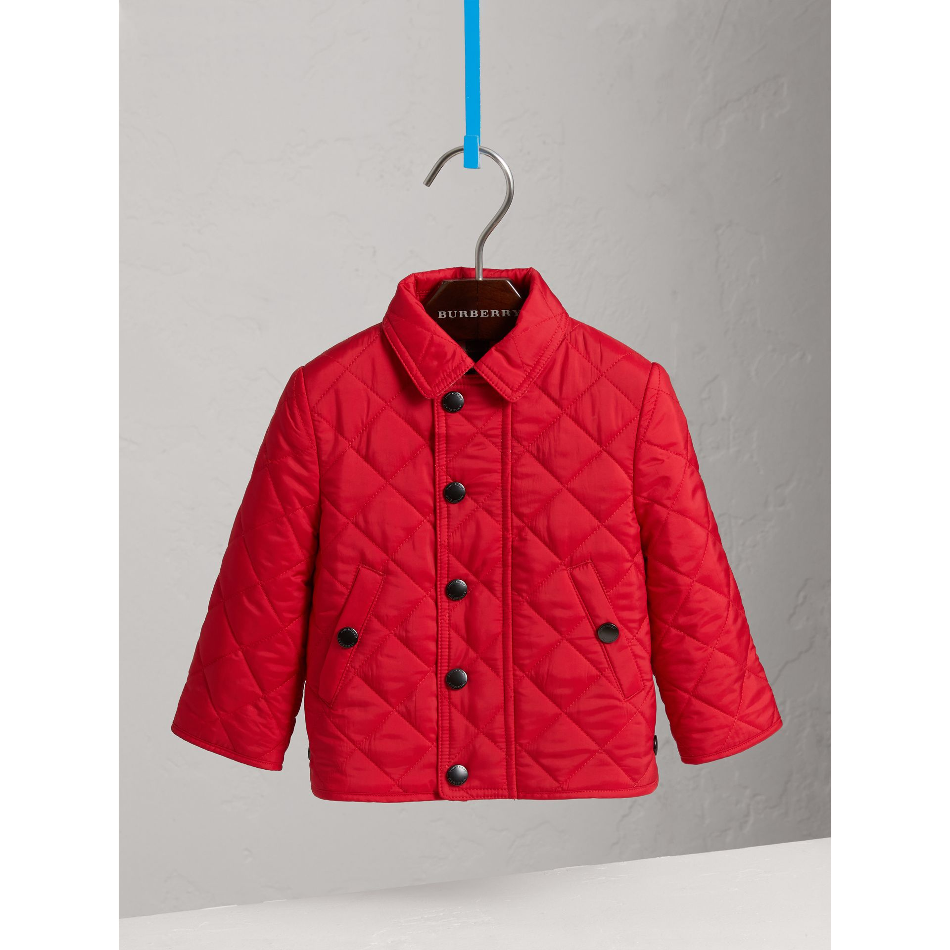 Lightweight Quilted Jacket in Bright Cherry Red | Burberry - gallery image 0