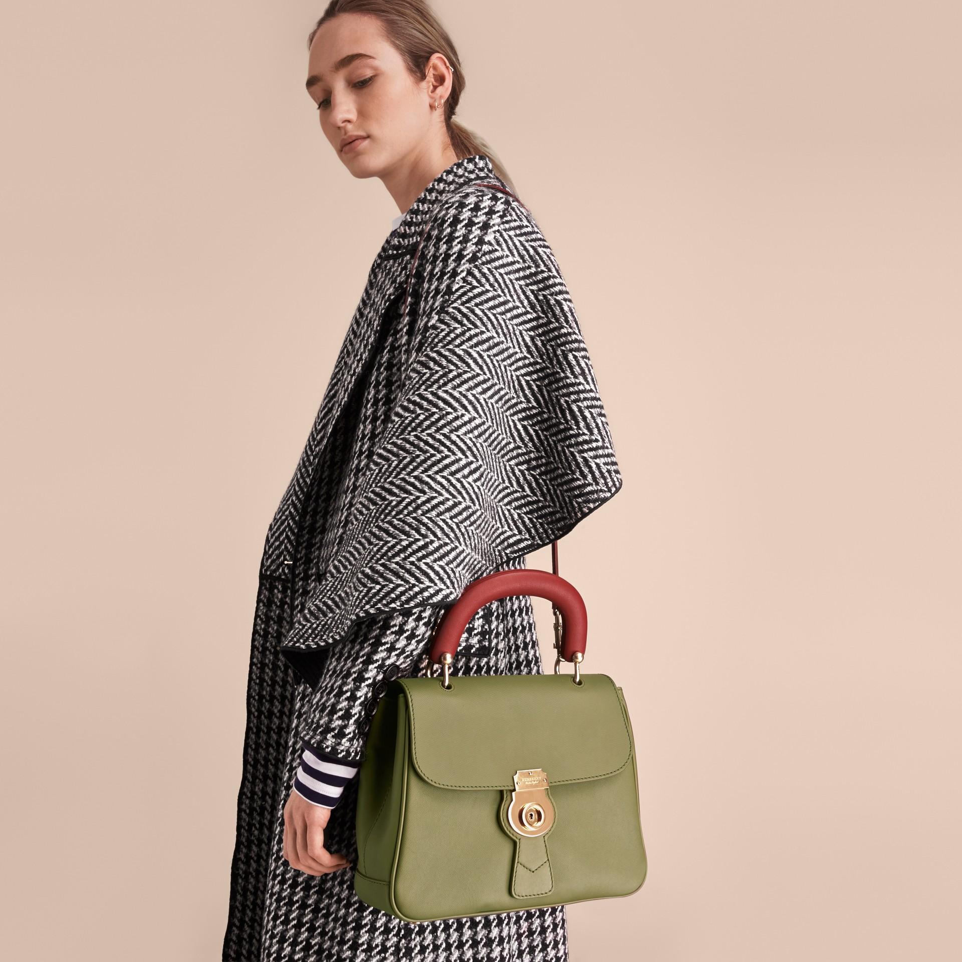 The Medium DK88 Top Handle Bag Moss Green - gallery image 4