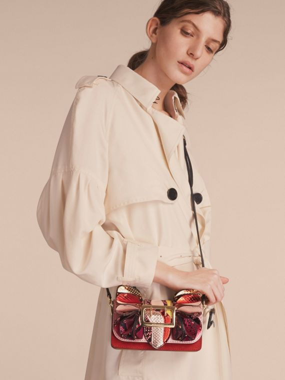 The Ruffle Buckle Bag in Snakeskin and Calf Leather - cell image 3