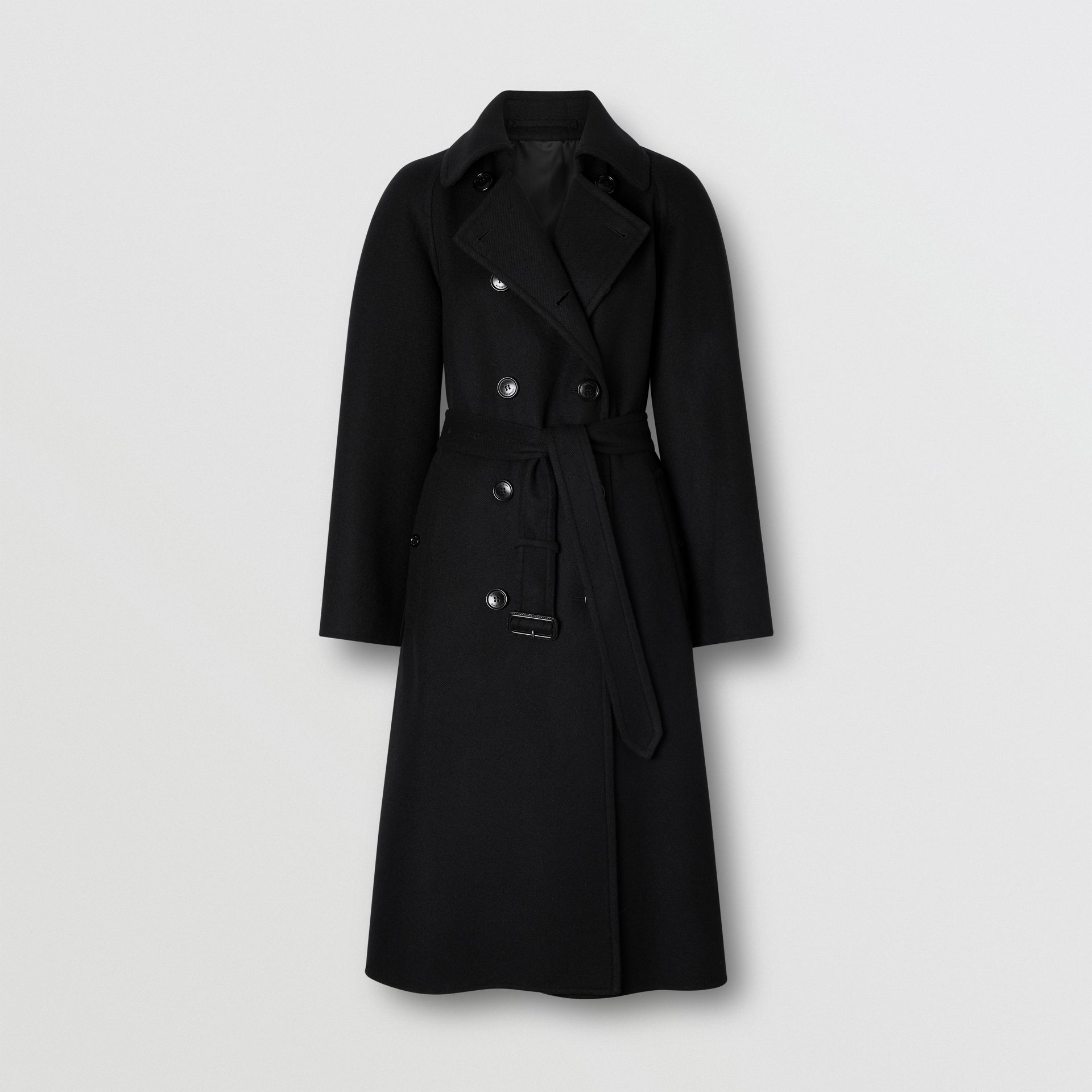 Double-faced Cashmere Trench Coat in Black - Women | Burberry United States - gallery image 3