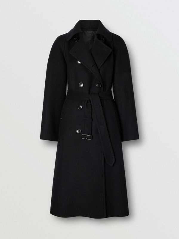 Double-faced Cashmere Trench Coat in Black - Women | Burberry United States - cell image 3