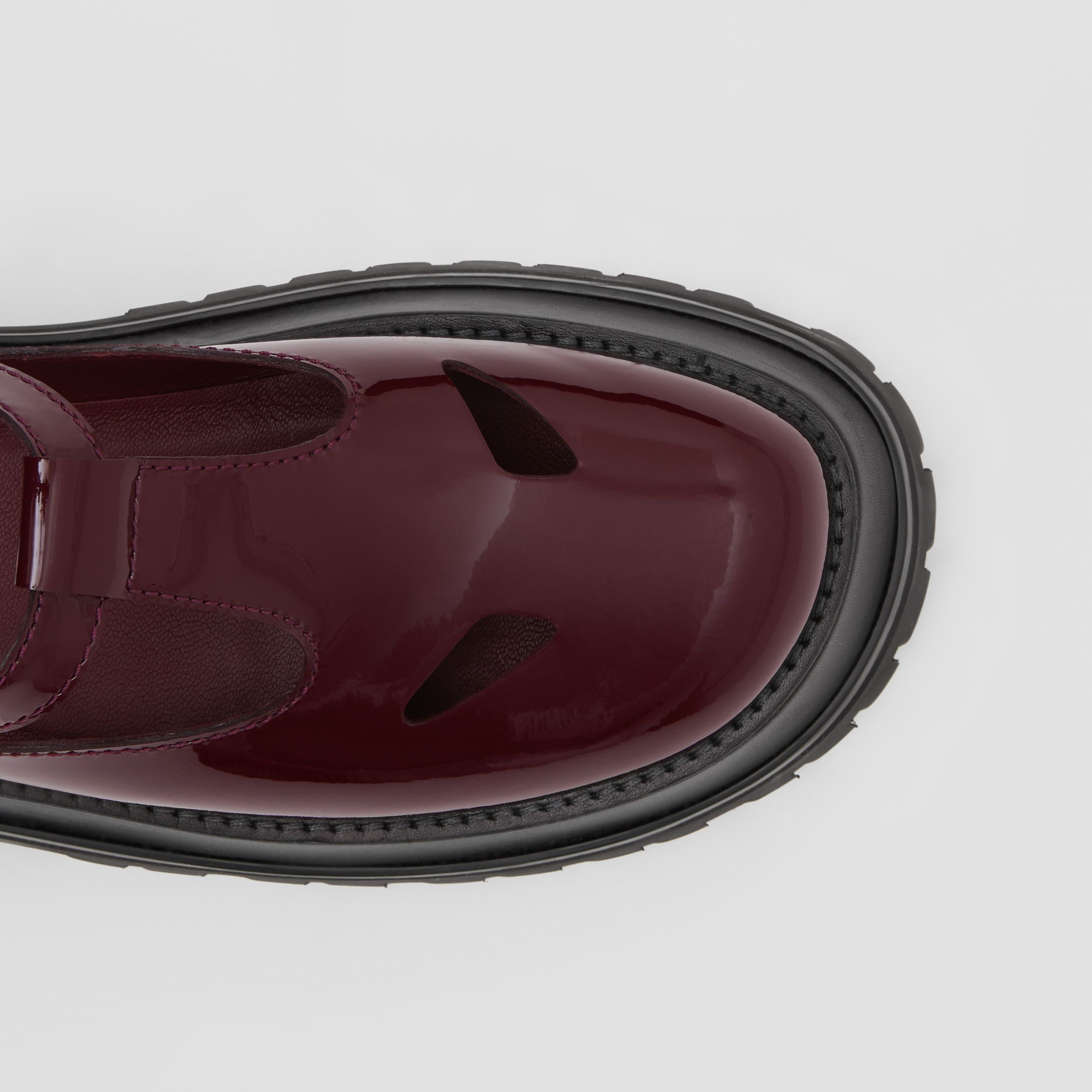 Patent Leather T-bar Shoes in Oxblood - Women | Burberry - 2