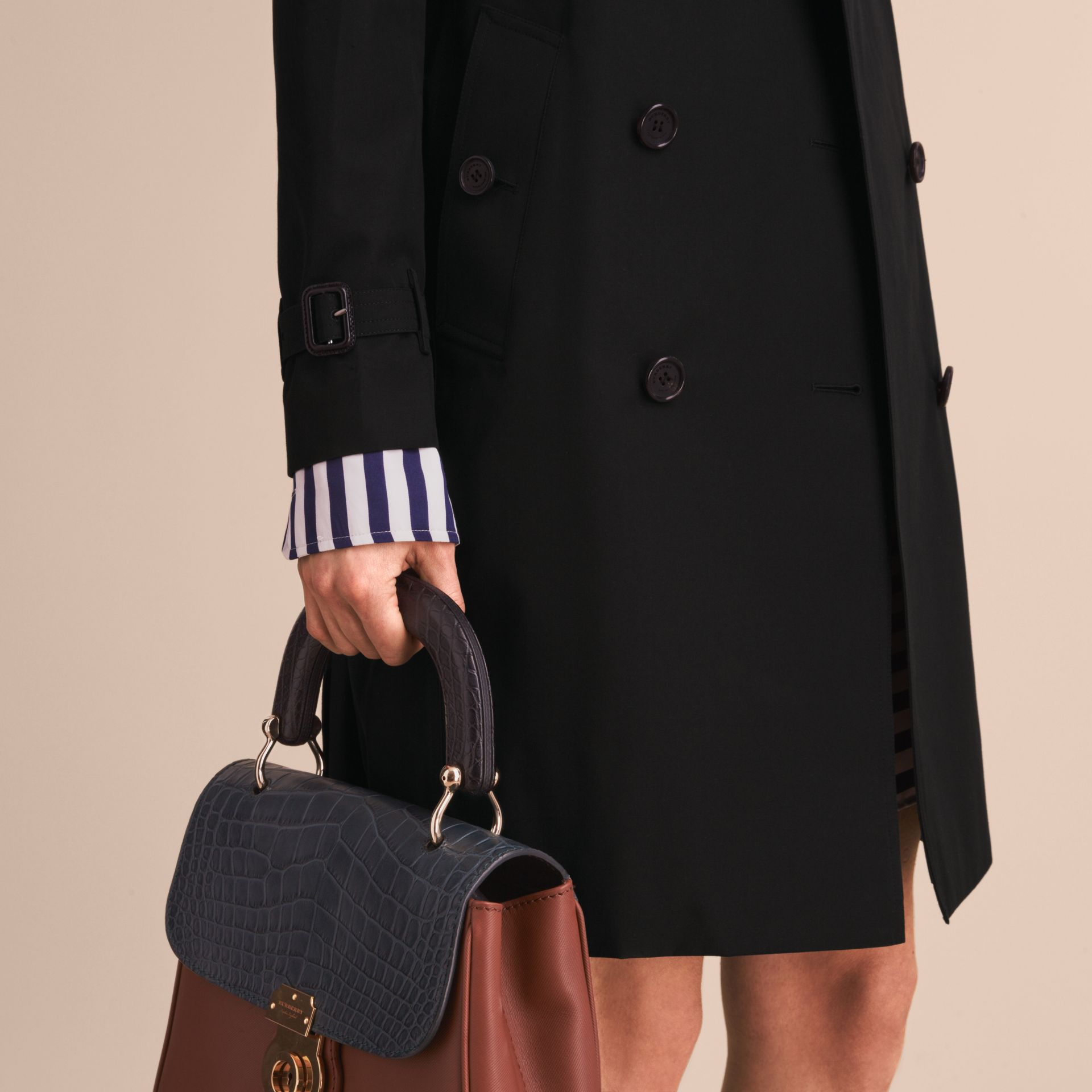 Black The Kensington – Long Heritage Trench Coat Black - gallery image 7