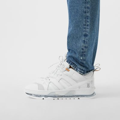 Leather Union Sneakers in Optic White