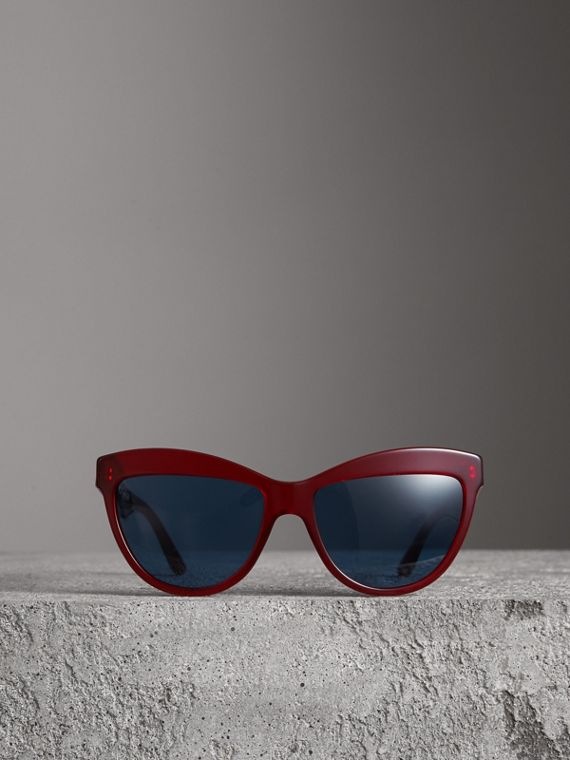 Doodle Cat-eye Frame Sunglasses in Cardinal Red - Women | Burberry - cell image 3