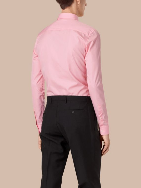 City pink Slim Fit Double-cuff Cotton Poplin Shirt - cell image 2
